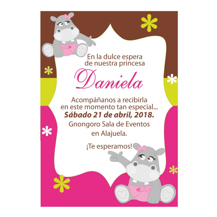 Baby Shower Invitaciones Digitales Costa Rica Estudio De